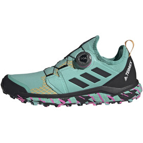 adidas TERREX Agravic Boa Trail Running Shoes Women, acid mint/core black/screaming pink